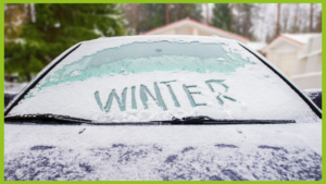 frozen car windscreen